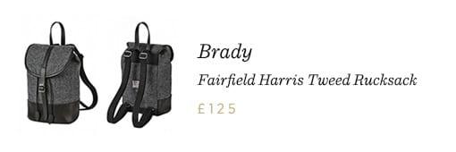 Brady Fairfield Harris Tweed Rucksak