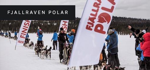 Finish Line of the Fjällräven Polar Event