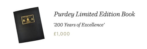 "Purdey Limited Edition Book: ""200 Years of Excellence"""