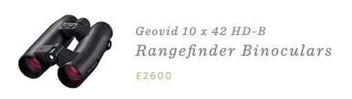 Leica Geovid 10 x 42 HD-B Rangefinder Binoculars.