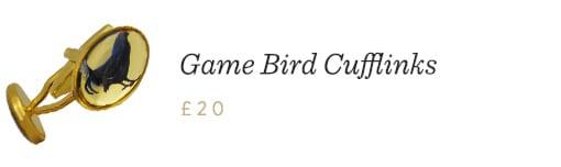 Game Bird Cufflinks