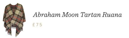Abraham Moon Tartan Ruana