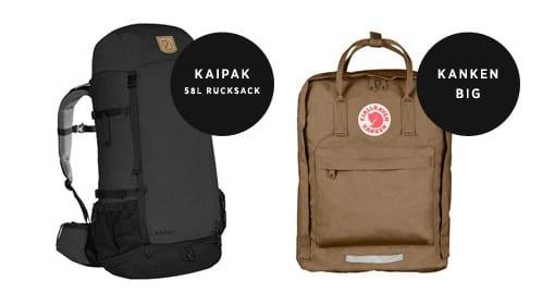 Fjallraven Kanken Rucksacks and Bags