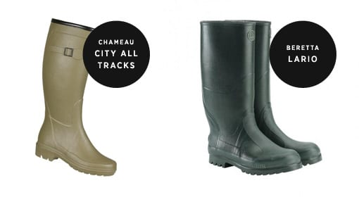 Chameau City all Tracks and Beretta Lario Boots