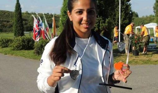Malikaa Wig junior national champion in trap shooting