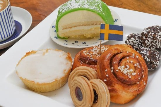 Traditional Swedish Fika cakes and pastry