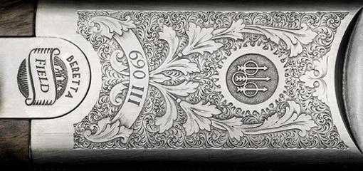 Bereta Detailed Gun Engraving
