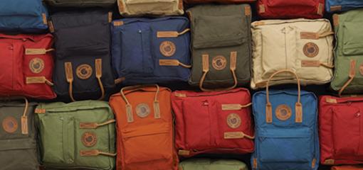 Fjällräven Kanken Range of Coloured Bags