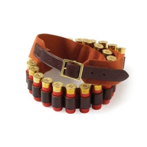 Brady Traditional English Bore Web and Leather Belt Brown