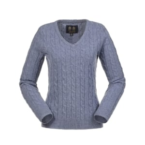 womens-cable-knit-v-neck-blue