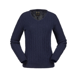 womens-cable-knit-v-neck-navy