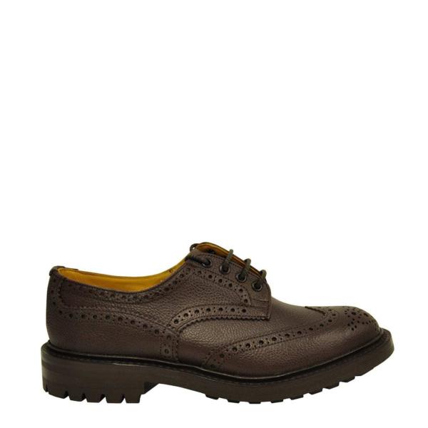 Trickers Ikley Brogue Shoe Derby Sole Brown Zug Grain
