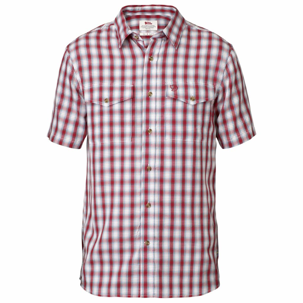 Fjallraven Abisko Cool Short Sleeve Shirt Red