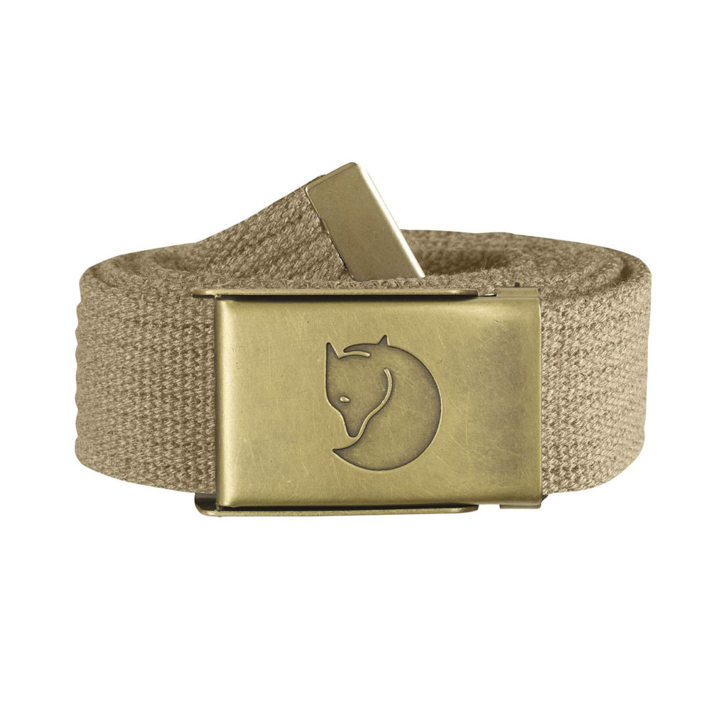 Fjallraven-Canvas-Brass-Belt-4cm-Sand