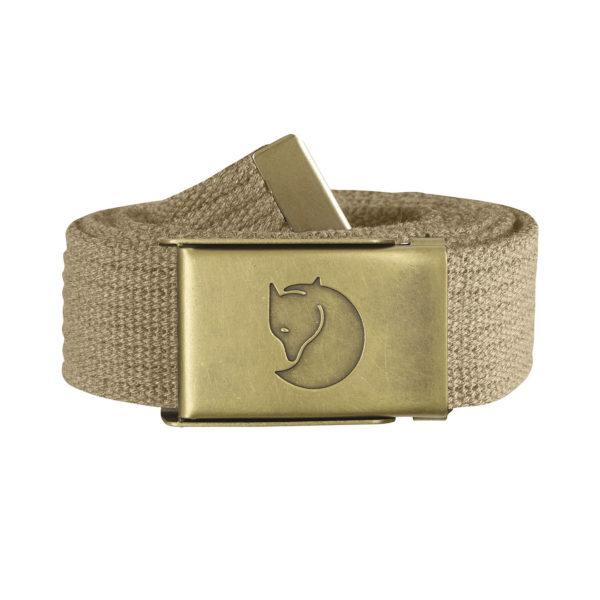 Fjallraven-Canvas-Brass-Belt-4cm-Sand