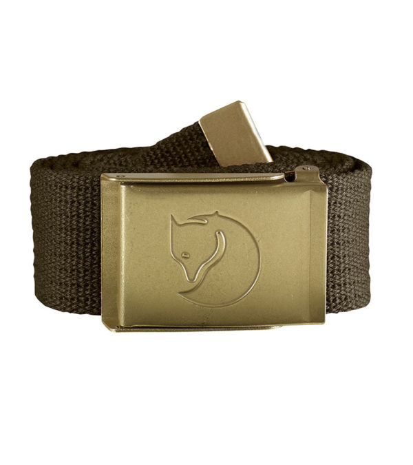 Fjallraven Canvas Brass Belt 4cm Dark Olive