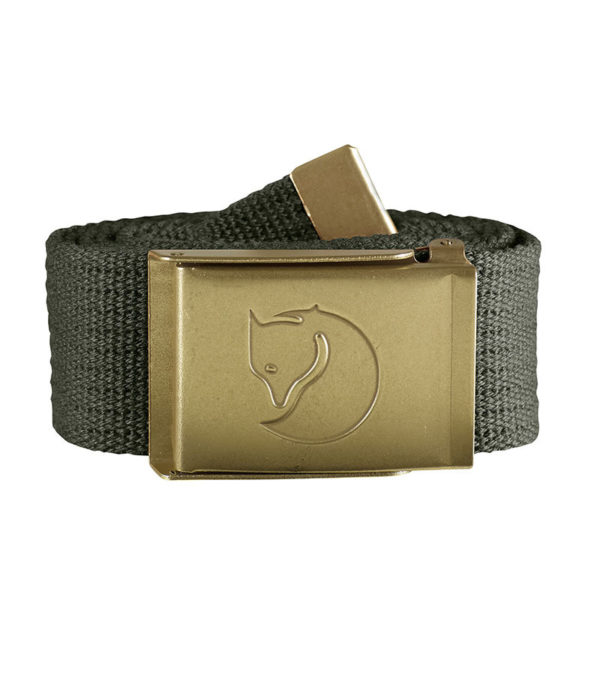 Fjallraven Canvas Brass Belt 4cm Mountain Grey