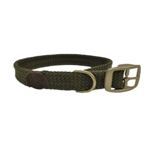 double-braid-dog-collar-olive