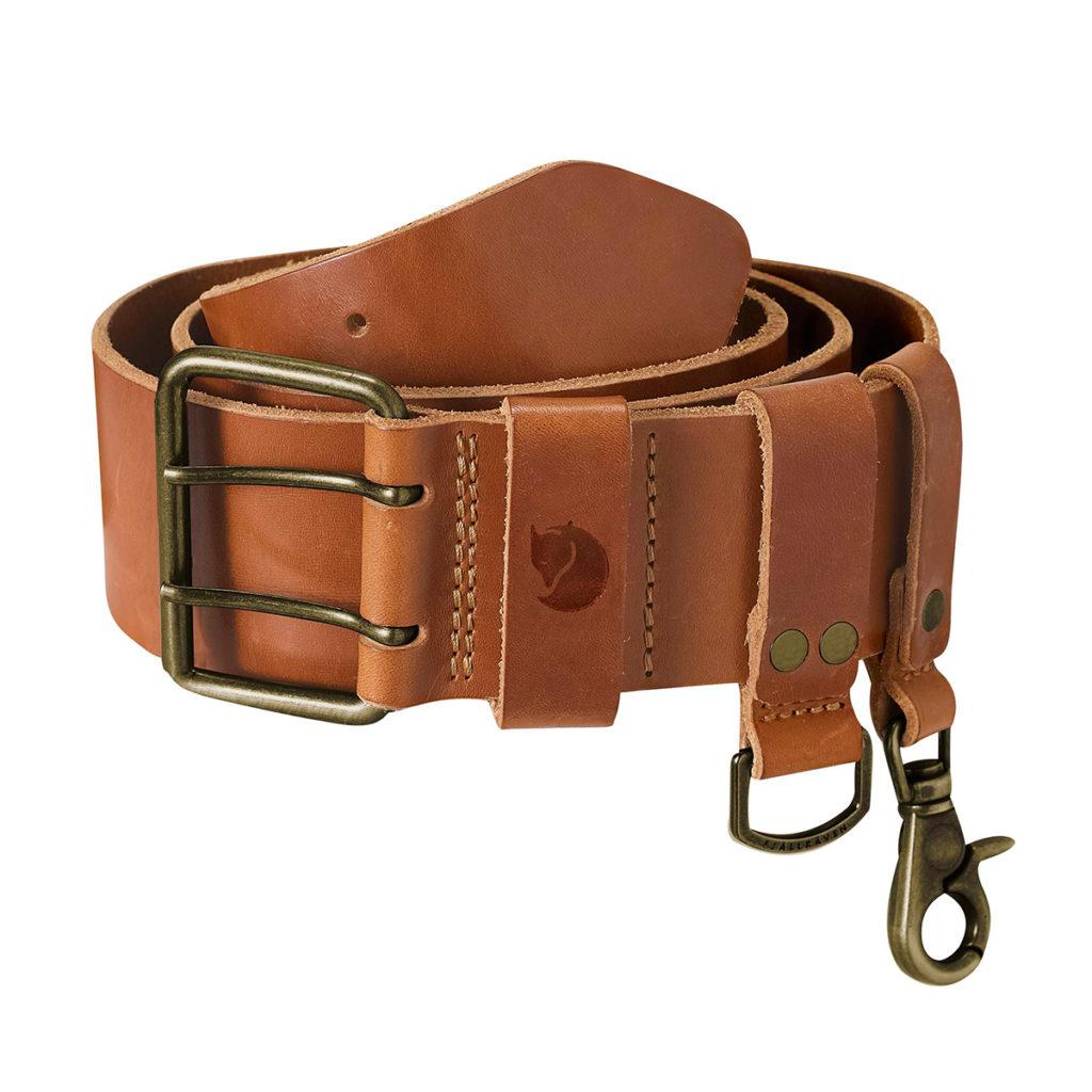Fjallraven Equipment Belt Leather Cognac