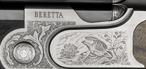 Hand Engraved Beretta Shotgun