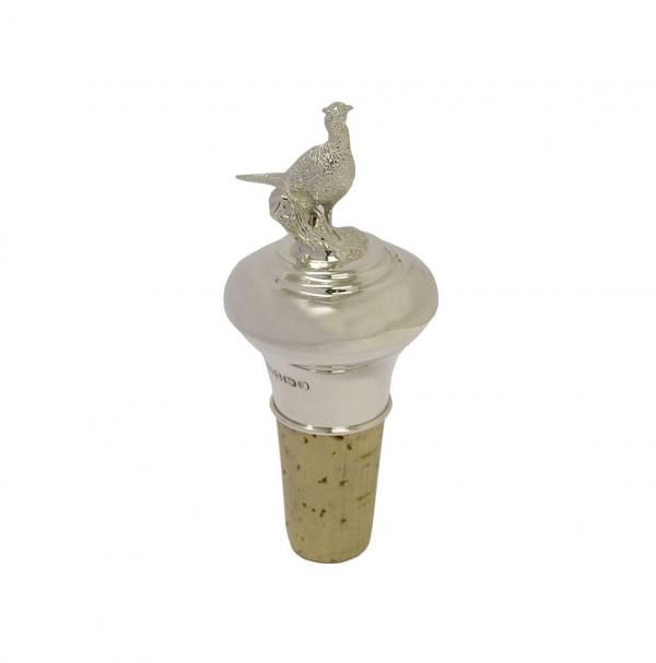 James Purdey Silver Pheasant Bottle Stopper