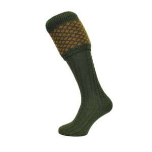 boughton-speckled-top-sock-green