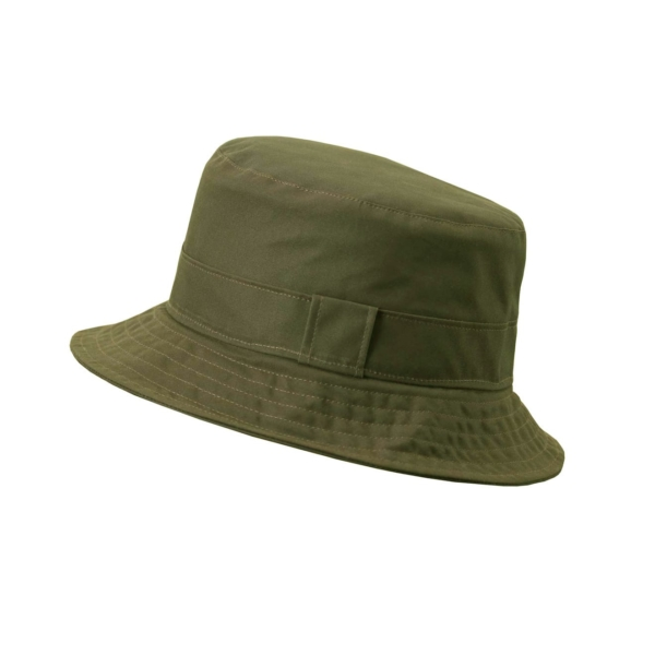 James Purdey Waterproof Dry Wax Fishermans Hat Dark Olive
