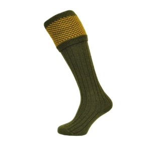 tayside-dot-top-sock-green