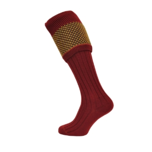tayside-dot-top-sock-red