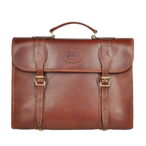 Brady Leather Briefcase Brown Front