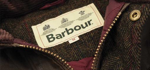 Barbour Jacket Official Label