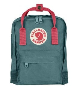 Fjallraven Kanken Mini Frost Green and Peach Pink