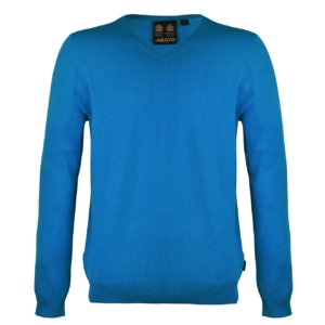 Musto Light Merino V-Neck Knit Blue