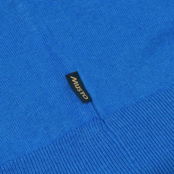 Musto Light Merino V-Neck Knit Blue