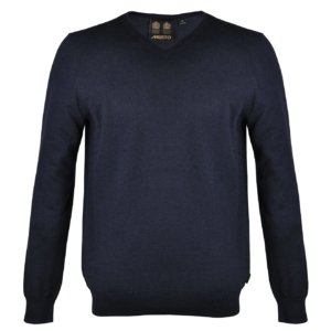 Musto Light Merino V-Neck Knit Navy