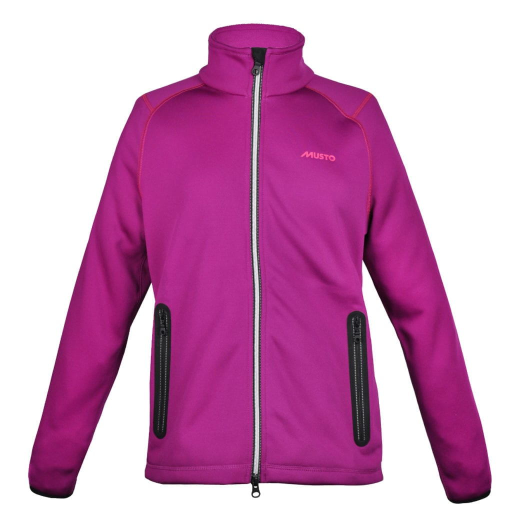 Musto Womens DWR Zip Thru Sweat Wild Magenta