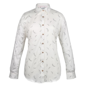musto womens oak leaf print shirt feather