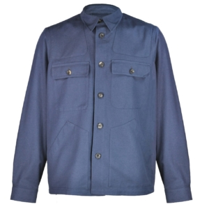 Private White Safari Jacket Navy Blue