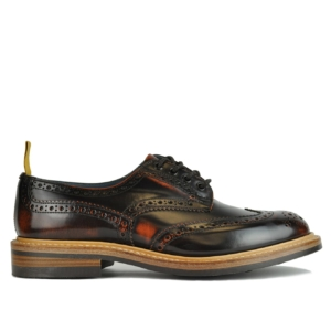 Trickers Bourton Revival Derby Sole Brogue Dark Brown