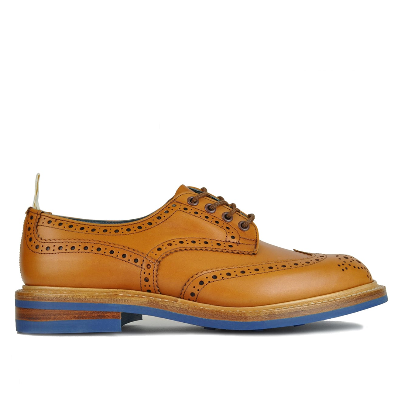 Trickers Bourton Revival Derby Sole Brogue Tan