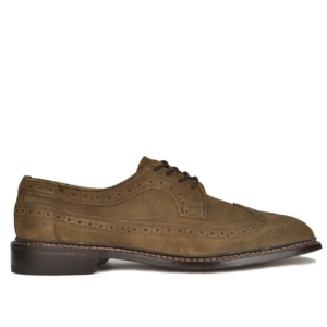 Trickers Richard Suede Brogue Shoe Brown