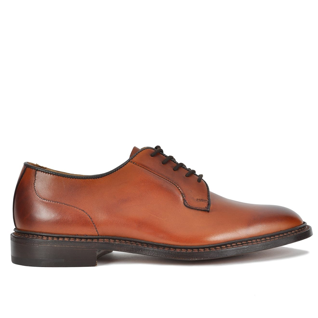 Brogue Shoes On Sale, Dark Brown, Leather, 2017, 6 Trickers