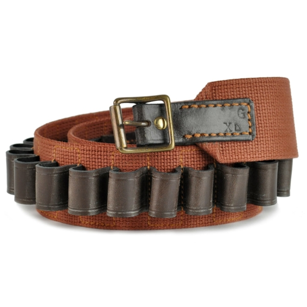BRADY TRADITIONAL ENGLISH 28 BORE WEB LEATHER BELT DARK BROWN