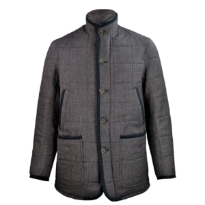 James Purdey Quilted Tweed Jacket with Alcantara Smoke