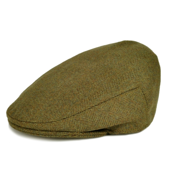James Purdey Short Peak Tweed Waterproof Cap Manton