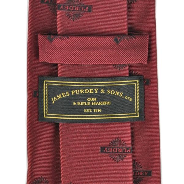 James Purdey Stag Antlers Woven Silk Tie