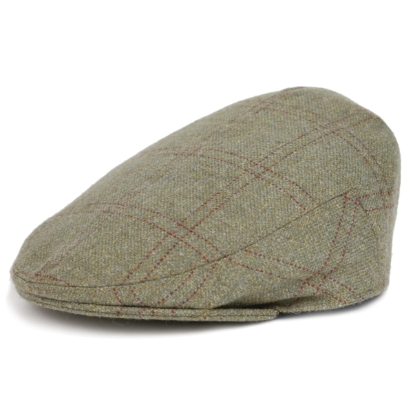 James Purdey Short Peak Tweed Waterproof Cap Audley House