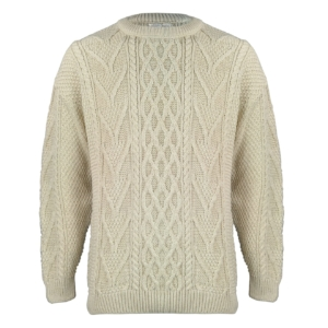John Partridge Chunky Cable Knitwear Stone