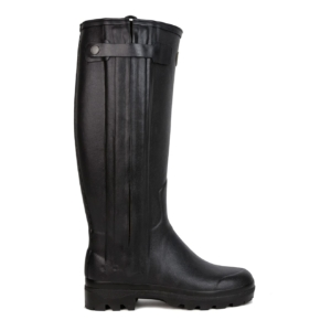 Le Chameau Womens Chasseur Cuir Wellington Boot Black