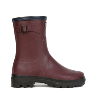 Le Chameau Womens Giverny Low Wellington Boot Cherry